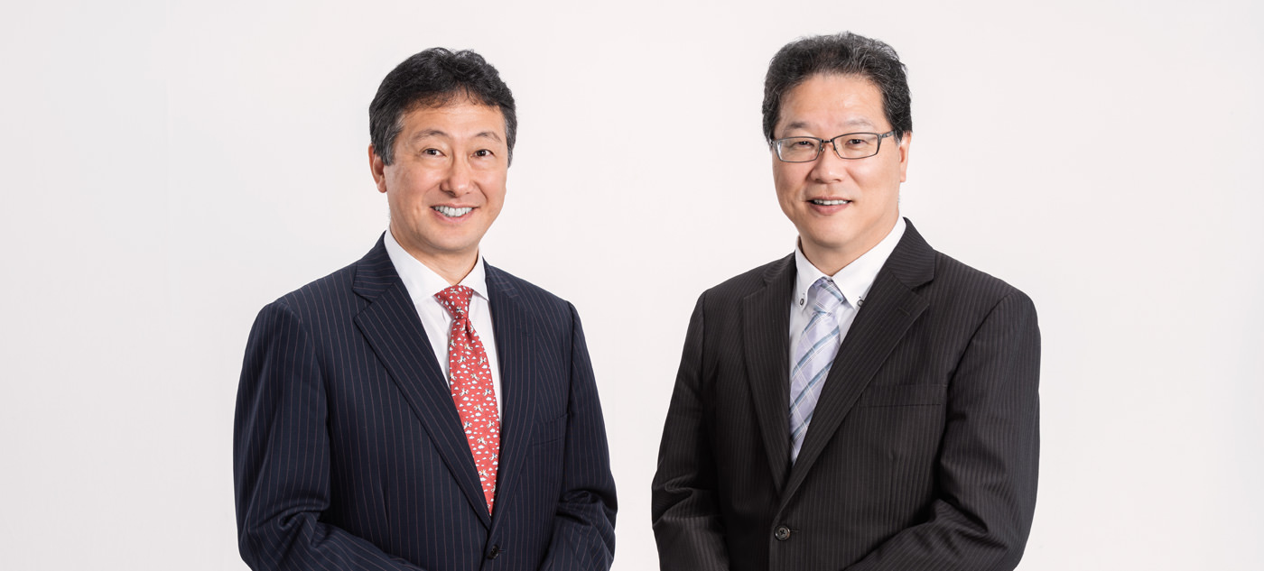 代表取締役会長CEO 中尾 真人 / 代表取締役社長COO 尾崎 祥平