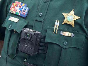 police officer wearing body worn camera